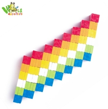 hot sale children games colorful wooden domino