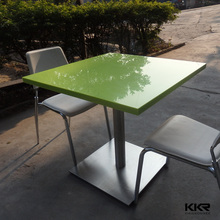 acrylic stone fast food restaurant table and walmart chairs