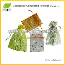 hot sales fahion circle organza wholesale bag for promoting