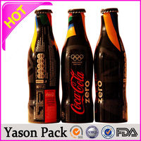 YASON water bottle shrink lable printing express bag with pocket pvc shrink wrapping wateproof bottle labels