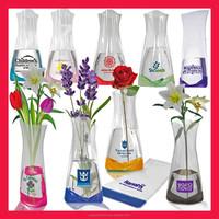 Crystal clear flower vase plastic/ foldable plastic flower vases