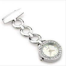 Luxury gold and silver Nurse Pocket Watch Fashion Bling Bling Diamond Nurse Watch