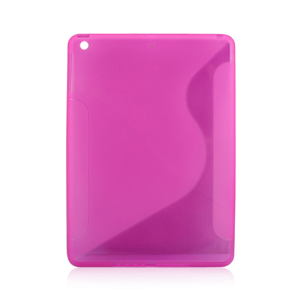 S pattern translucent protective phone case for iPad 5 TPU soft phone cover
