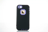 3 in 1 plastic silicon full protective mobile case for iphone 5s e
