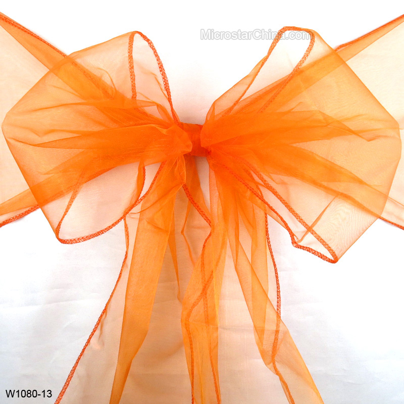 Wedding decoration organza material wedding chair tie cover