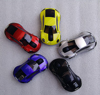 car shape custom led light wired&2.4ghz usb wireless car mouse