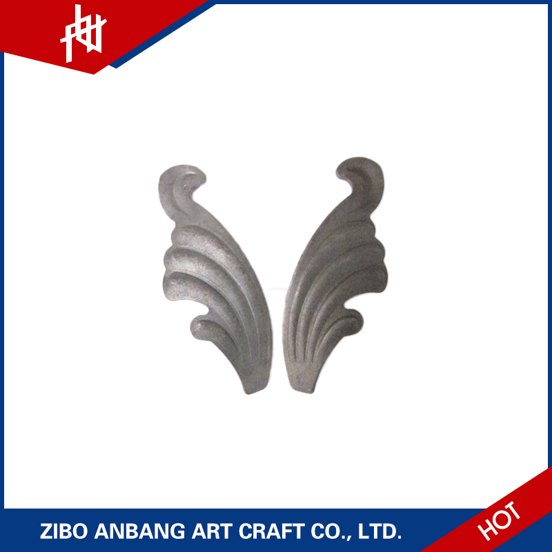 wrought stamped artificial iron leaves for decoration