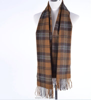 Mens checked cashmere scarf
