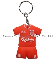 Plastic Keychain With Mental Ring