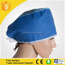 Health and Medical Nonwoven Nurse Cap With Fixed Ties