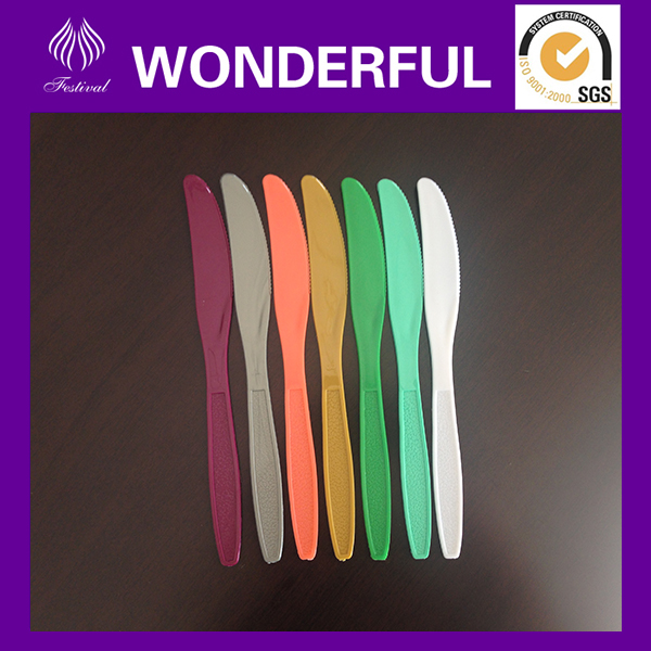 Cheap disposable colored butter knife plastic
