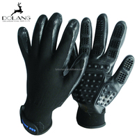 hot sale flexible tactile touch pet grooming gloves