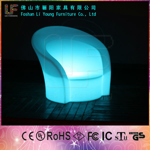 Eco-friendly Energy Saving Color Changeable Bar Furniture , Very Popular Fascinating Fashionable And Comfortable LED Bar Chair