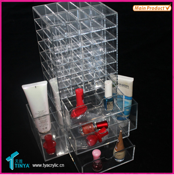 China Supplier Wholesale Acrylic Makeup Organizers, Christmas Hot Sale Acrylic Cosmetic Lipstick Holder