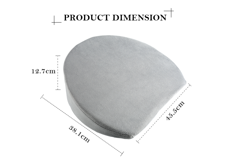Manufacturer Organic Cotton Adjustable Foam Adult Side Sleeper Pregnant Women Support Body Maternity Pregnancy Wedge Pillow