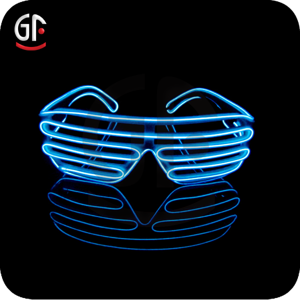 Hot New Products Shutter Frame Three Ways To Blink EL Wire Brand Name Sunglasses