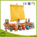Custom make plastic toy Tales of Glory Nativity Set, custom design plastic nativity figures