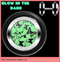Glow in the Dark Body Jewelry Flight of the Butterflies Fake Ear Plug and Tunnels
