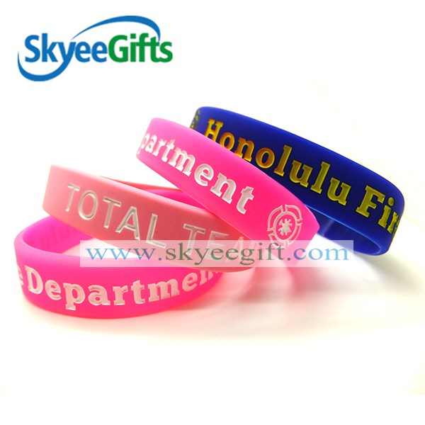 custom logo uv tester silicone band for different occasions