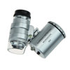 60X Pocket Microscope Jeweler Magnifier LED dental Eye Loupe mini coin Watch Loupe