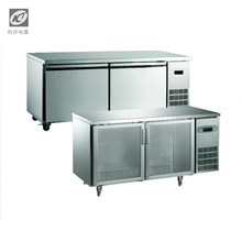 Dedicated kitchen stainless steel refrigerator with solid door counter