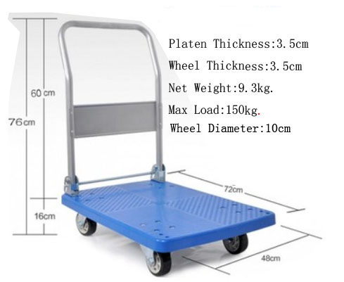 truck trolley small wheel platform hand truck