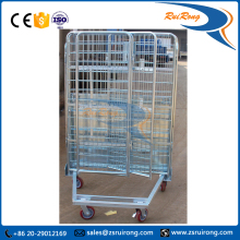 portable metal steel transportation trolley roll container for pallet