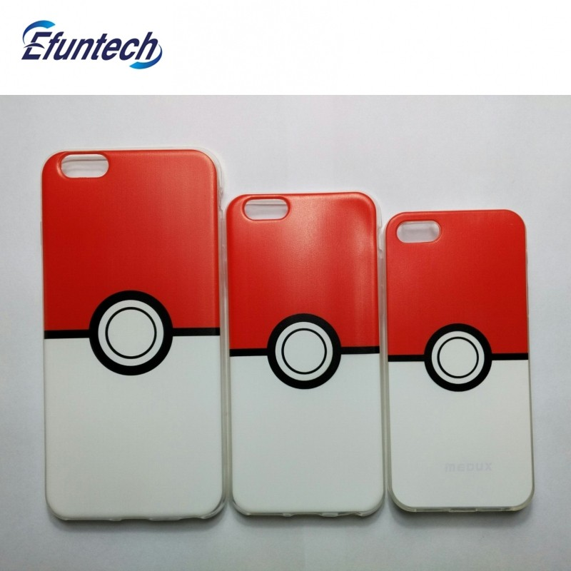New product pokemon go poke ball soft TPU mobile phone case for iphone 6s plus