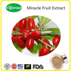 GMP manufacturer miracle fruit extract/synsepalum dulcifium extract/miracle fruit extract powder