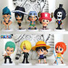Anime Figure One Piece figure 10 pcs a set Luffy Zoro Wholesale Cos New Style Superman Figure