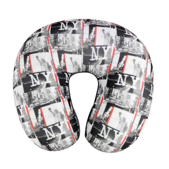 Printing New York patterns travel neck pillow
