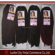 Cheap tangle free synthetic hair weft synthetic ombre marley hair braid