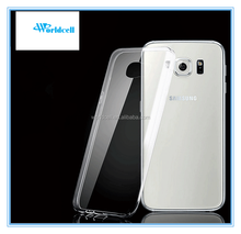 For samsung galaxy s6 edge clear tpu case Crystal Clear Transparent Soft Silicon 0.3mm TPU Case for S6 edge