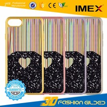 Electroplate Soft TPU Crystal Phone Cases Rose Gold Plating Glitter Diamond mobile phone case for iphone 7