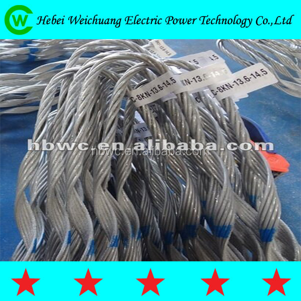 Weichuang Preformed Guy Grip/Prefoemed Dead End For ADSS/OPGW Cable