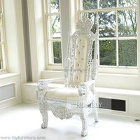 high class antique high back wedding queen king chair