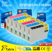Printer Consumables T0851 Inkjet Ink Cartridge for Epson T0851/2/3/4/5/6 with Stylus Photo 1390/T60