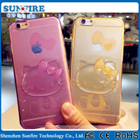 Mobile accessories 2015,wholesale mobile accessories, hello kitty silicone case for iPhone 6