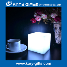 Rechargeable led cube shape table lamp light