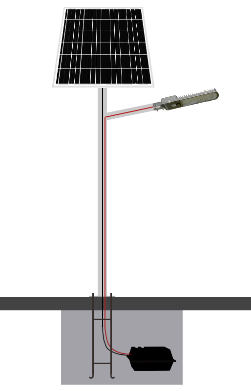 Commerical ip65 ip66 aluminium solar led street light housing