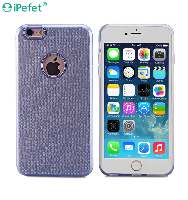 Guangzhou mobile accessories market soft TPU phone cover dot view case for iPhone 6 plus