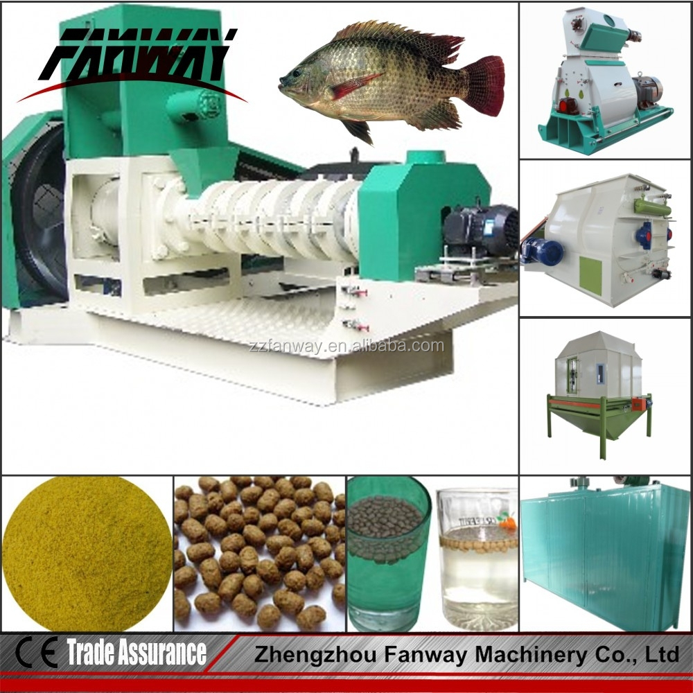 Complete automatic 500kg/h fish feed pellet processing line/floating fish feed mill production plant 0086 15838349193