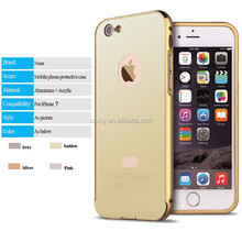 Shenzhen Alibba wholesale accept payment via paypal metal mirror back cover case for iphone 5 6 7