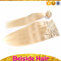 Light ash blonde hair color different attractive packaging ,clip in human hair topper remy