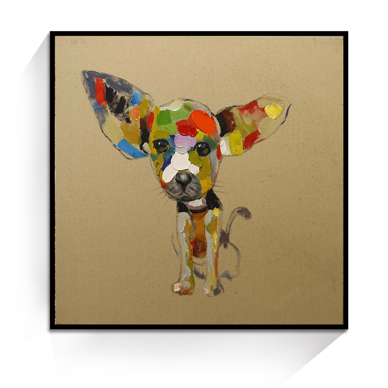 JC Wholesale Home Decoration Living Room Dog Animal Oil Painting On Canvas ANI-28