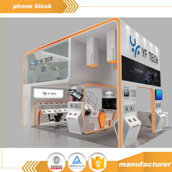 Digital Display Showcase Retail Cell Phone Accessories Display Showcase Kiosk