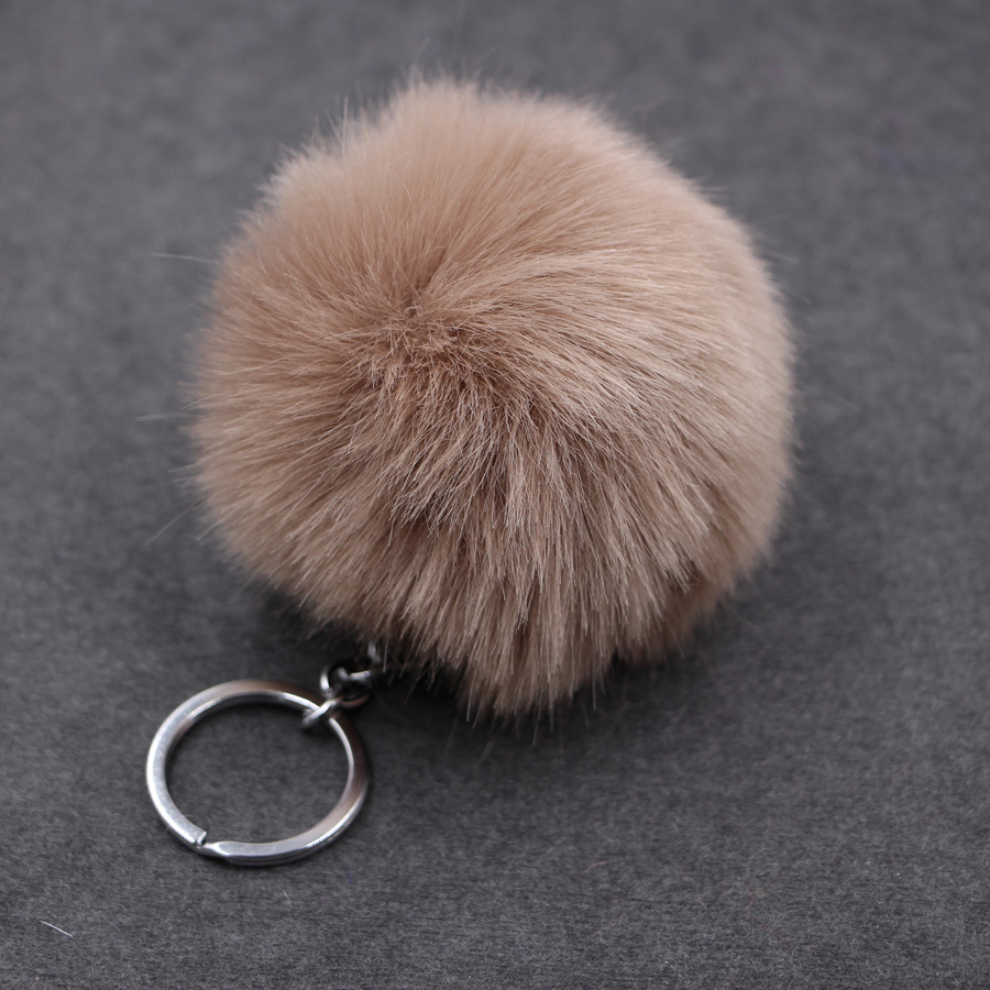 plush unicorn fluffy fur ball faux rex rabbit fur plush unicorn bag golf ball keychain fur ball luxury fluffy keychain