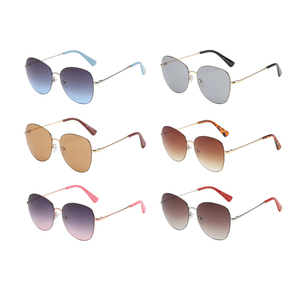 Simple lines Coloring lens Absorb specific wavelength round custom logo womens sunglasses trendy