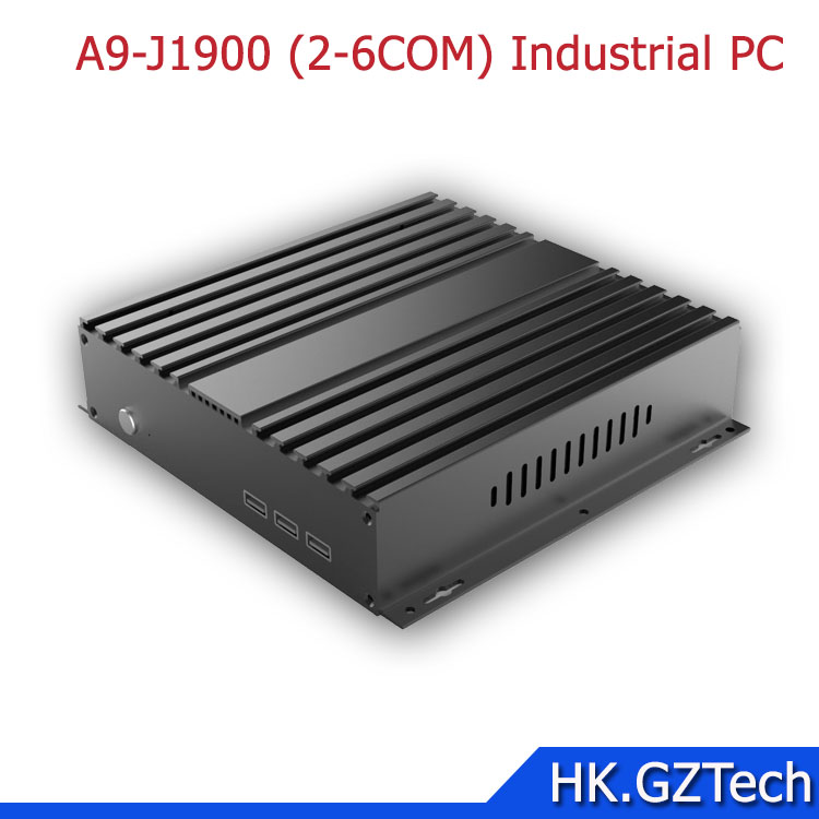 Embedded fanless industrial computer mini pc with j1900 i3 i5 i7 processors DC 12V