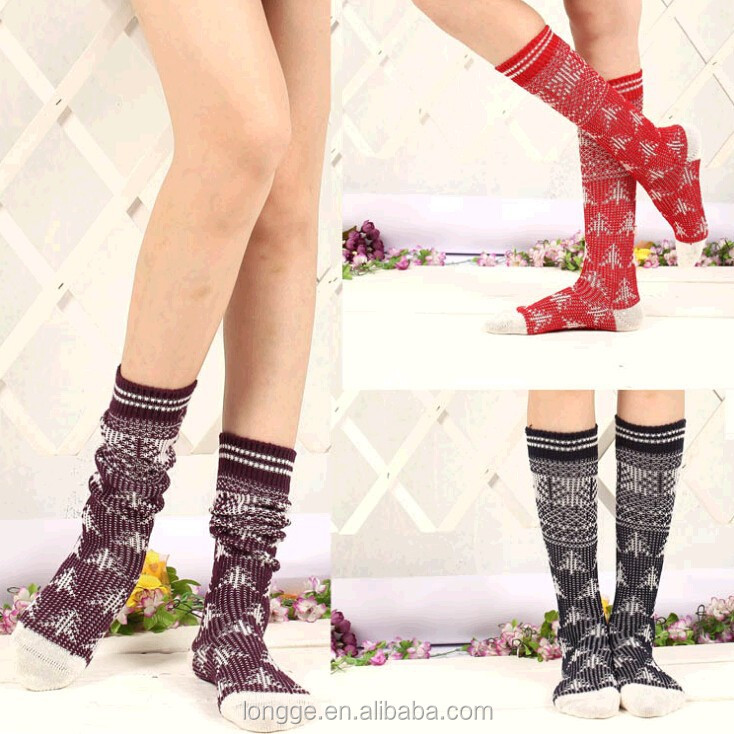 Hot Sale Good Quality Lady Knitted wool Sock